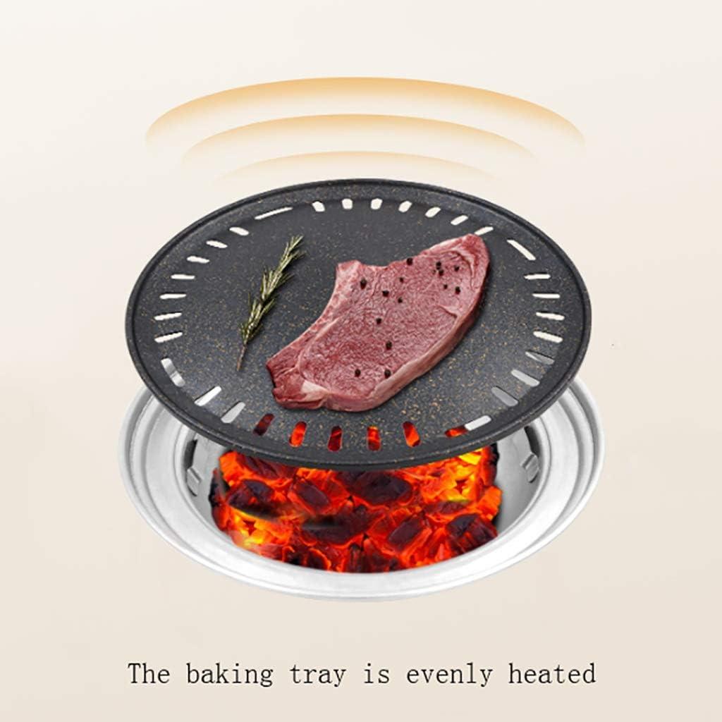 Guoguocy Grills électriques Barbecue, Charbon sans fumée Grill, Variété de Grilled Grils, Barbecue en Fonte Poêle Viande, intérieur, extérieur 10 Styles (Color : C) J