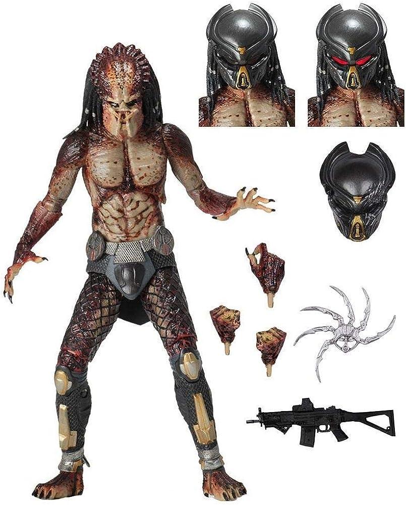 Neca , statua di  predator , con accessori , 18 cm B07NY8MBQQ