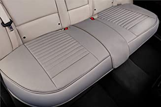 Big Ant Back Seat Covers, Separated Seat Cover PU Leather Back Car Seat Covers Breathable Back Cover Fit for Most Car, SUV, Vehicle Supplies (Gray-Flexible for Different Seat Size)