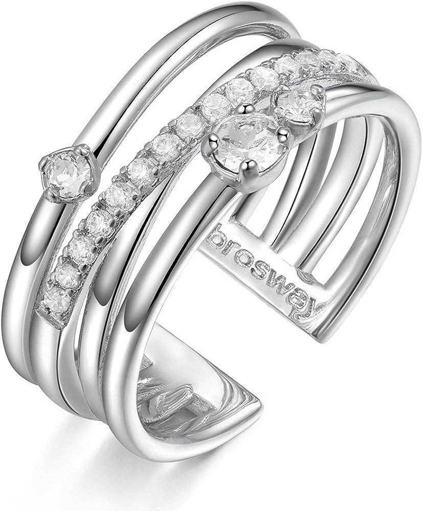Brosway sun casual anello per donna in bronzo con pavè di zirconi e swarovski 8053851004064