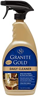 Granite Gold Daily Spray Streak-Free Cleaner for Granite, Marble, Travertine, Quartz, Natural Stone Countertops, Floors-Made in the USA, 32 Ounces
