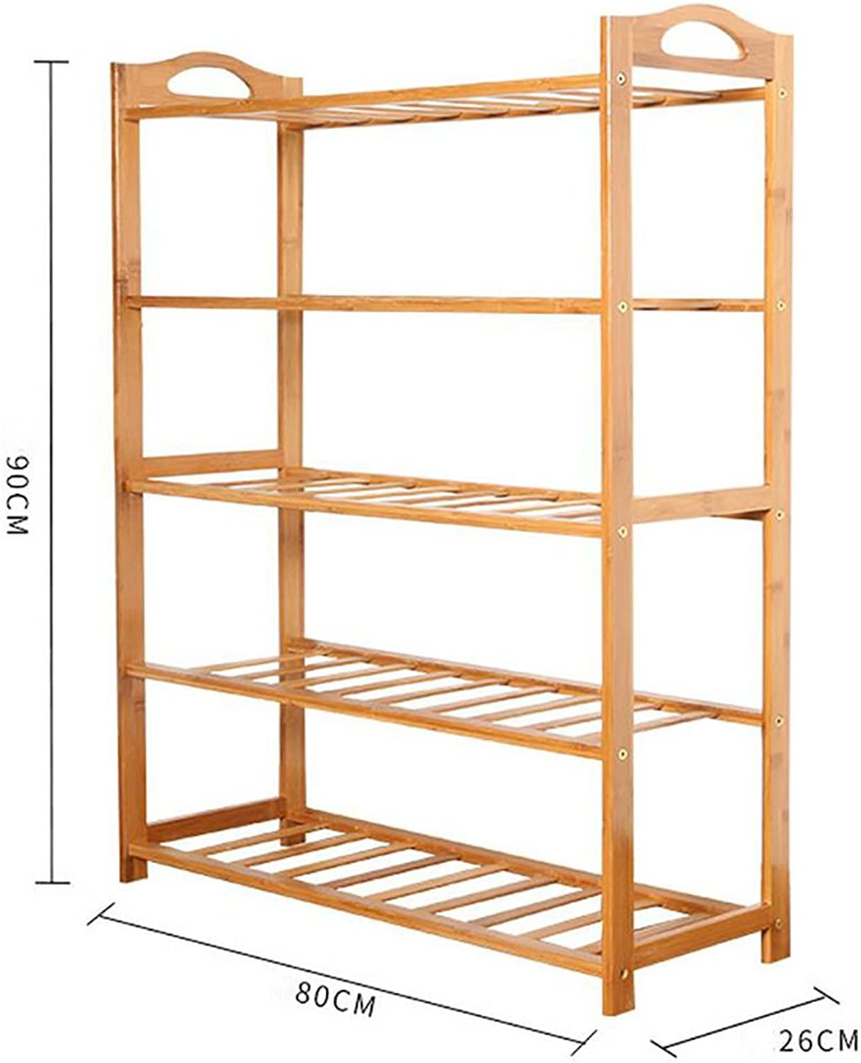 shoes Bench Organizing Rack shoes Rack Bamboo Shelves Multi - Layer dust - Proof Solid Wood shoes Rack Assembly Economical Shelves Home Living Room shoes Cabinet (color   3, Size   80cm)