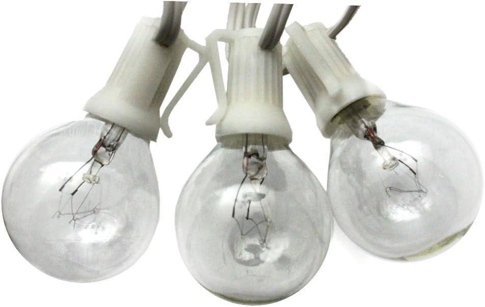 Globe string light 50ft white G40 - lights wedding White Super sale Max 47% OFF period limited