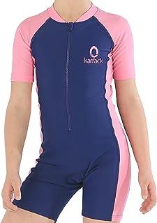 karrack Girls and Boys یک تکه Rash Guard Swimsuit Kid Water Sports Swimsuit Short UPF 50 Sun Protection حمام حمام