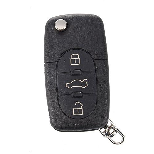 SODIAL(R) 3 Botones Carcasa Mando Vehiculos para AUDI A2 A3 A4 A6 A8