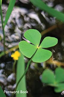 Password Book: Include Alphabetical Index With Pair of four leaf clover fern plants
