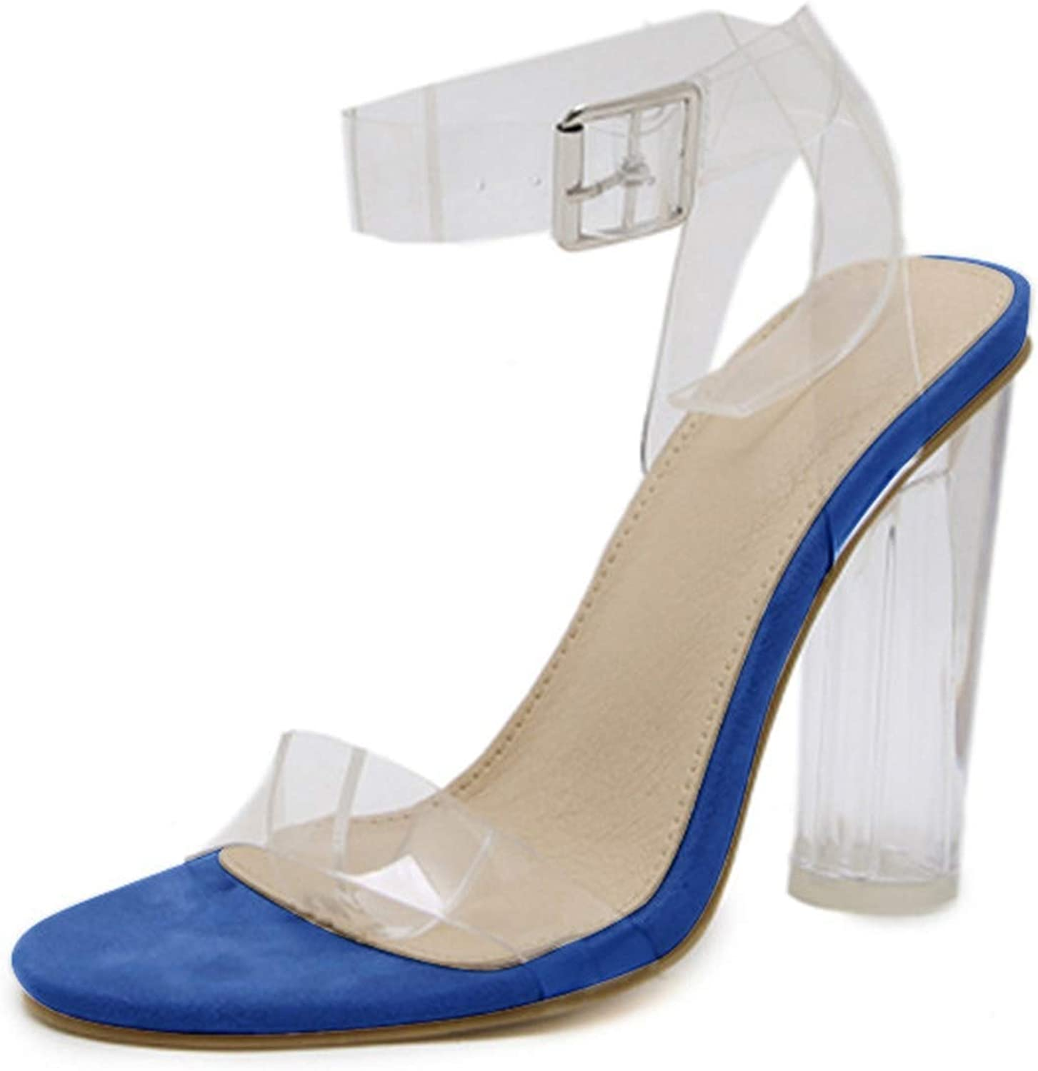 Transparent Heels Women's Summer shoes Sexy Sandals Clear Heels for Women shoes Large Size