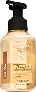 Bath and Body Works Aromatherapy THANKFUL - FRANKINCENSE + MYRRH Gentle Foaming Hand Soap 8.75 Fluid Ounce