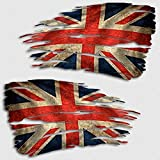 Aftershock Decals Union Jack Flag Tattered Decal Set British Distressed Sticker