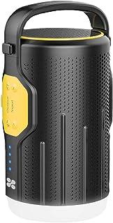 مكبر صوت بتقنية بلوتوث من برومايت، 3 في 1 متعدد الوظائف لاسلكي جهوري قوي بـ 5 اوضاع اضاءة ليد بسعة عالية مع باور بانك بقوة...