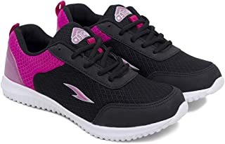 ASIAN Women's Goolgy-01 Black Rani Running Shoes,Training Shoes,Walking Shoes, Fabric Sports Shoes (UK-5)