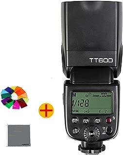 Godox TT600 カメラフラッシュ 内蔵2.4GワイヤレスXシステム ガイドナンバーGN60 1/8000s高速シンクロ AD360II-C・AD360II-N・TT685C・TT685N・X1T-C・X1T-N等とコンパチブルできる ( Canon・Nikon・Pentax・Olympus DSLR カメラ対応)