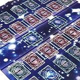 FunAloe Yu-gi-oh - Alfombrilla de juego de cartas, 60 x 60 cm, diseño de galaxia