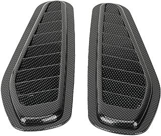 Fydun Car Air Flow Intake Decorative Scoop Bonnet Vent Hood Cover Universal Carbon Fiber Style Auto Car Decorative Hood Scoop 2pcs