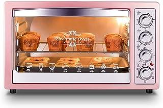 L.TSA Mini Horno eléctrico de Cocina 32L, Horno de Pizza doméstico de 220V, Pastel de alitas de Pollo, Control de Temperatura, Herramienta de horneado, diseño de posición de horneado de 3 Capas, m