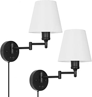 Amazon Com Swing Arm Wall Lamps Sconces Wall Lights Tools Home Improvement