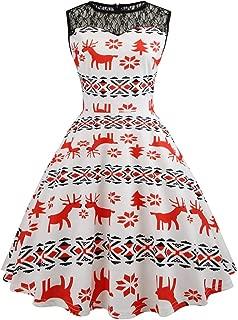 Christmas Ugly Sweater Dress,KIKOY Xmas Santa Claus Vintage 1920s Party Dress