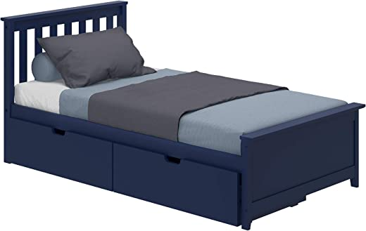 B07VSQ7RQB✅Max & Lily 187210-131 Solid Wood Twin-Size Bed Storage Drawers, Blue