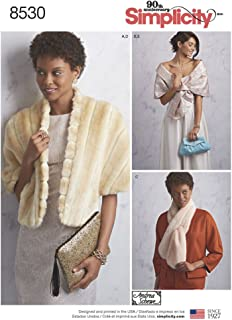 Simplicity Sewing Pattern D0854 / 8530 - Misses' Accessories, Stole, Shawl, Scarf, Clutch, A(10-12-14-16-18-20)