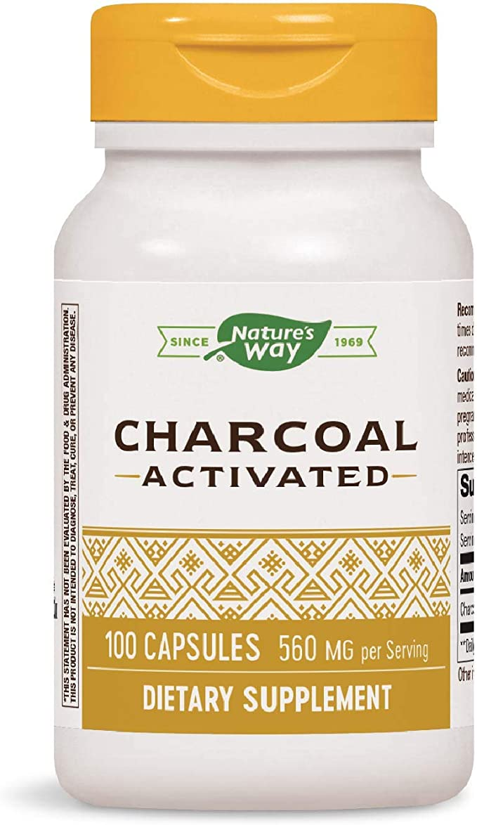 Natures Way Activated Charcoal, 100 Capsules | Amazon