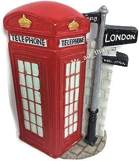 Telephone Booth, London Souvenir Collection 3D Fridge Refrigerator Magnet Hand Made Resin