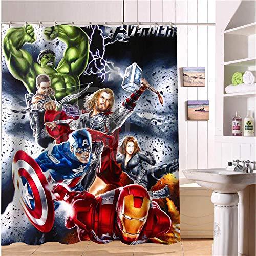 FANG2018 Custom-The-Avengers-Marvel-Held-Duschvorhang-Neue-große-europäische-&-amerikanische-große-Ideen-Print-Edition