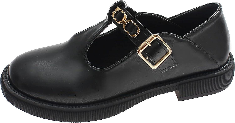 ZiSUGP Women's Shoes Retro British Style Flat Comfortable Casual Single Shoes