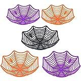 JOYIN 5 Cuencos de Plástico Cesta con Diseño de Telaraña de Halloween para Truco o Trato, Cuencos para Dulces, Camiones o Golosinas