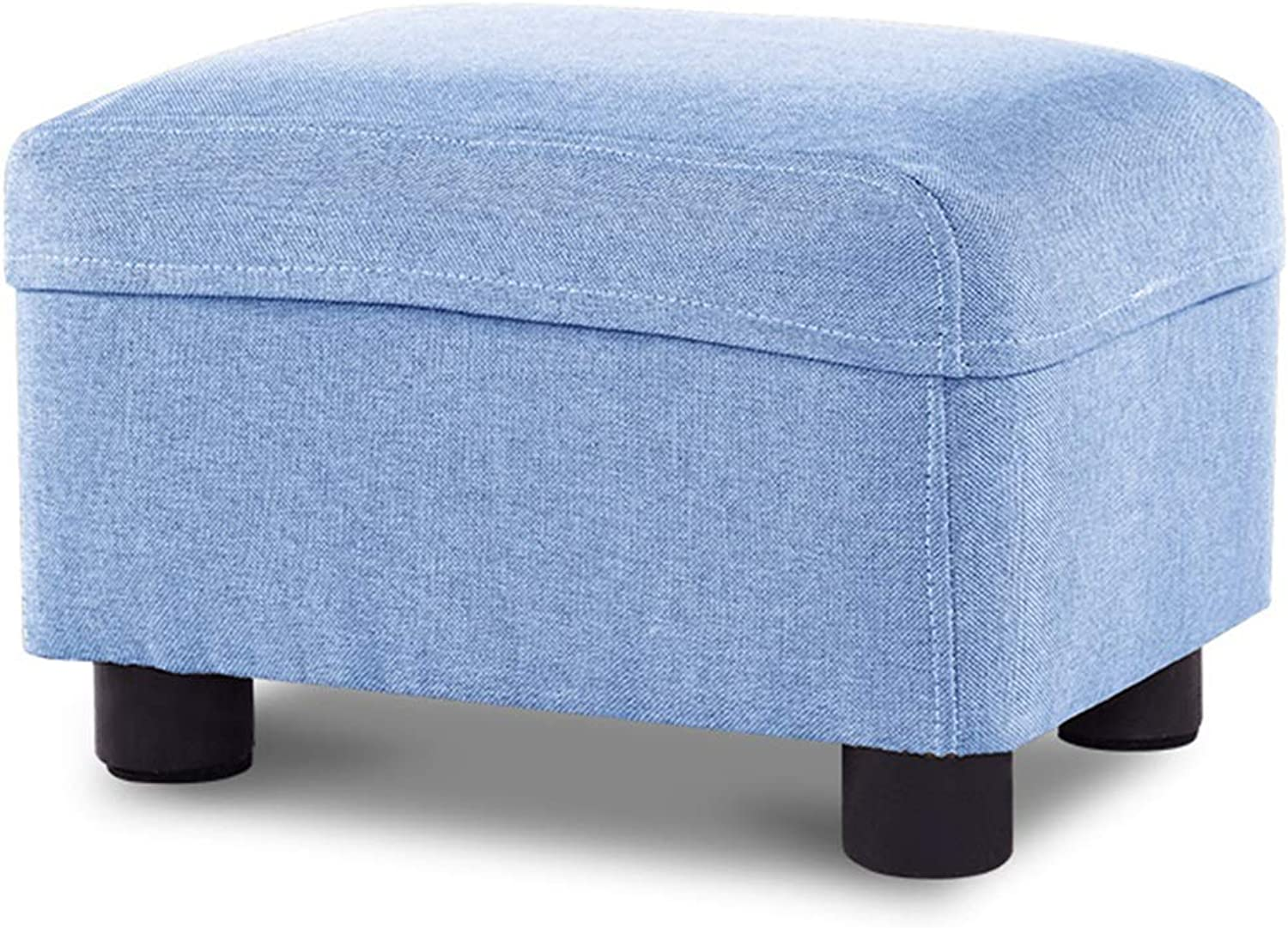 ZXQZ Stool Fabric Sofa Stool 27x37x20cm Household Pedal Square Stool (color   A)