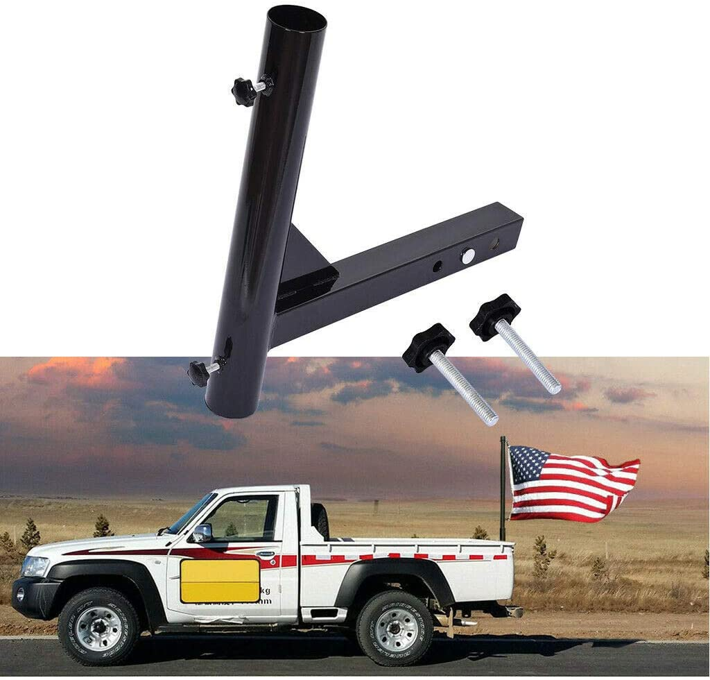 Luyao Hitch Mount Flagpole Holder Boston Mall Flag Courier shipping free Receivers Pole Ho Trailer