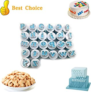 Alphabet Letter Fondant Cake Biscuit Mold, Cookie Stamp Impress Embosser Cutter, Alphabet Letters Numbers Cake Mold Sugar craft Cookie Cutter Cake Decorating Tool, DIY Cookie Biscu (Lowercase Letters)