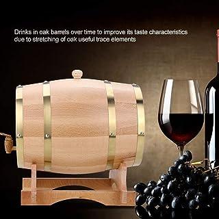 Tonneau à vin en bois 10L Tonneau de chêne, Tonneau Vintage en Chêne for la vinification ou Espace de rangement Bière Whis...