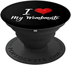Funny Adult Twin Gift I Love My Wombmate Sisters Brothers - PopSockets Grip and Stand for Phones and Tablets