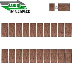 2GB Wooden Flash Drives 20 Pack, EASTBULL Bulk USB Flash...