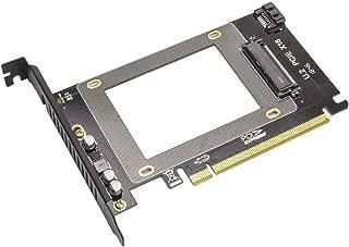 2.5-Inch U.2 Nvme Drive to PCI Express X16 Slot Card or SATA III SSD/HDD PCI Mount