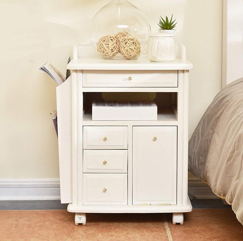 Eeayyygch Nachttische Massivholz Möbel Moderne Einfachheit Schlafzimmer Schrank (Farbe (Farbe (Farbe  Weiß) (Farbe   Weiß, Größe   -) B07JWB277T a7b549