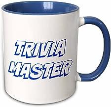 3dRose mug_213329_6 Trivia Master, Blue Letters On A White Background - Two Tone Blue Mug, 11oz