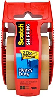 Scotch Heavy Duty Shipping Packaging Tape, 2 x 800 - Tan - 3 Count
