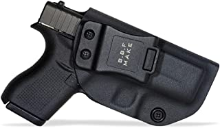 B.B.F Make IWB KYDEX Holster Fit: Glock 42 | Retired Navy Owned Company | Inside Waistband | Adjustable Cant | US KYDEX Made
