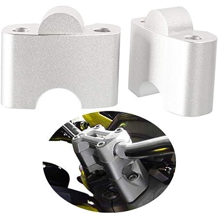Motorrad Lenkererhöhung Verstellhalterungen Lenkerverlegung Aus Aluminium Zubehör Für Monster 659 696 795 1100 Silber Auto