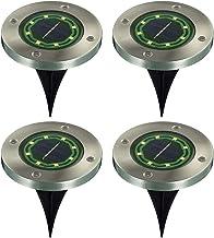 Pacote de 4 Luzes Do Jardim Solar 8-LED Luz de Chão de Aço Inoxidável À Prova D 'Água Ao Ar Livre Caminho Estrada Escada L...
