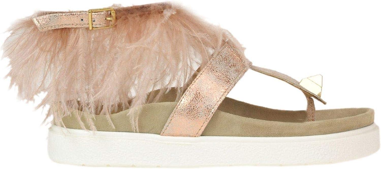 INUIKII Women's MCGLCAB000005051E Pink Leather Loafers