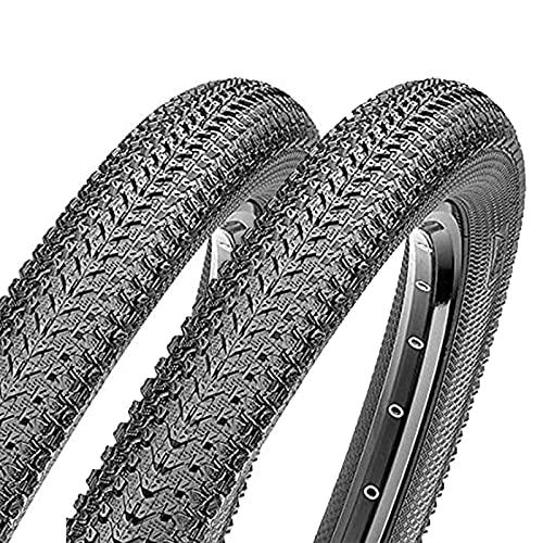 FYYTRL Neumático de Bicicleta de montaña (2 neumáticos) Negro de Repuesto 26x1,95 Neumático de Bicicleta General, Apto para Bicicletas de montaña y Carretera,29x2.1