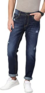 AMERICAN CREW Men's Straight Fit Non Stretchable Jeans Selvedge Denim