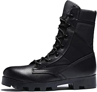 Suede Men's Combat Boot, Vented Waterproof Lace-Up Training Desert Boots Outdoor Sports Boots