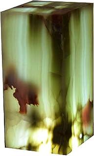 "Lampada rettangolare 30cmx15cm in marmo di onice ""Verde Dunas"""