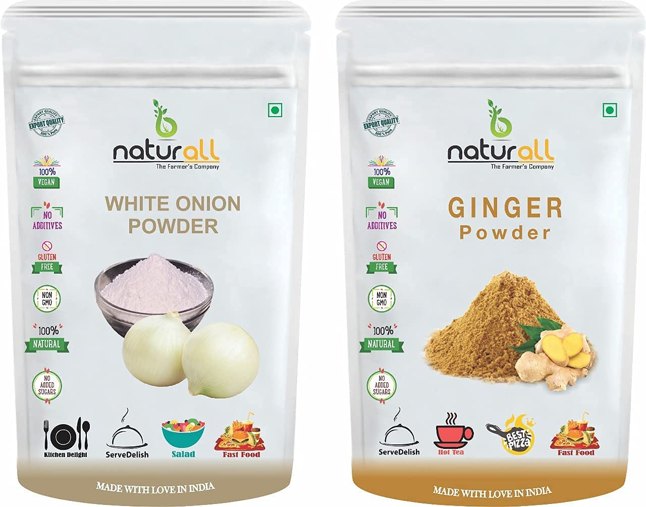 Trisha B Naturall Lowest price challenge Pack of 2 - Excellence White Powder GM Ginger 500 Onion