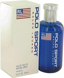 Ralph Lauren Pòlò Blue Sport Eau De Toilette Spray, for Man EDT 4.2 fl oz, 125 ml