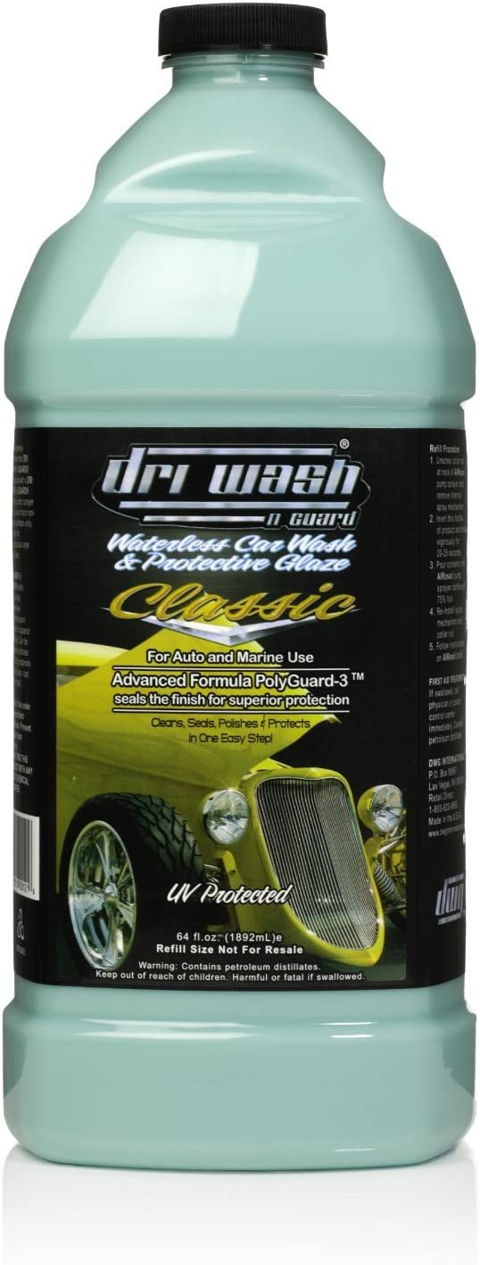 List price Special Campaign Case of DRI WASH 'n GUARD 64oz and Car Pr Wash Classic Waterless