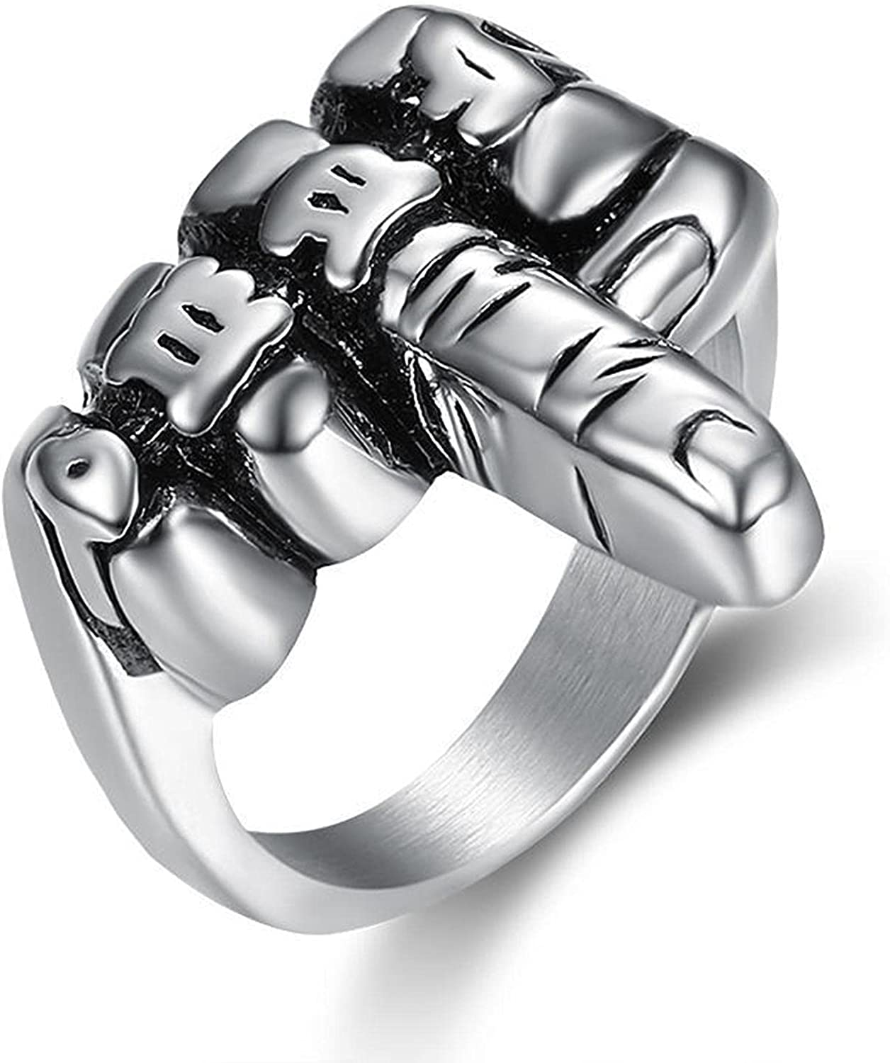 Hip Hop Jewelry Titanium Stainless Biker Silver At the price Steel Me Classic SEAL limited product